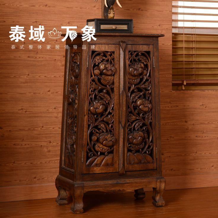 Thai Custom Creative Home Decoration Entrance Cabinet Southeast