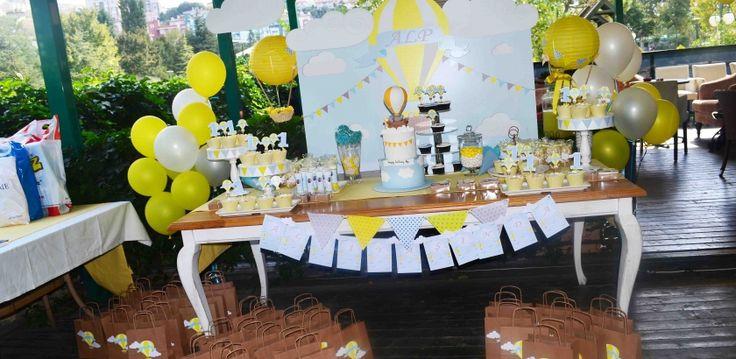 Alp'in Sıcak Hava Balonu Temalı 1 Yaş Doğum Günü Organizasyonu