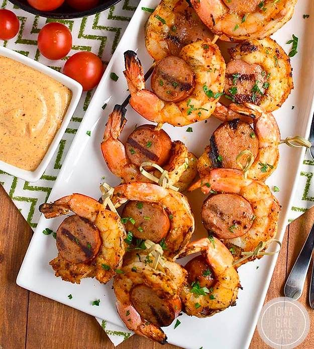 12 Skewer Recipes Perfect For A Summer BBQ | These super juicy and flavorful recipes are heavenly good, the perfect backyard party food everyone will love!