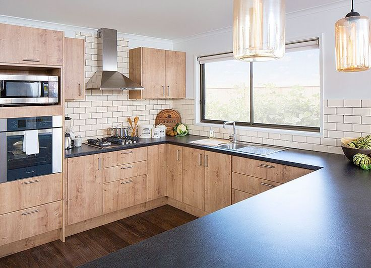 Check out our black toffee (matt) laminate benchtop that emulates the look of stone.  Visit kaboodle.com.au for more inspiration!