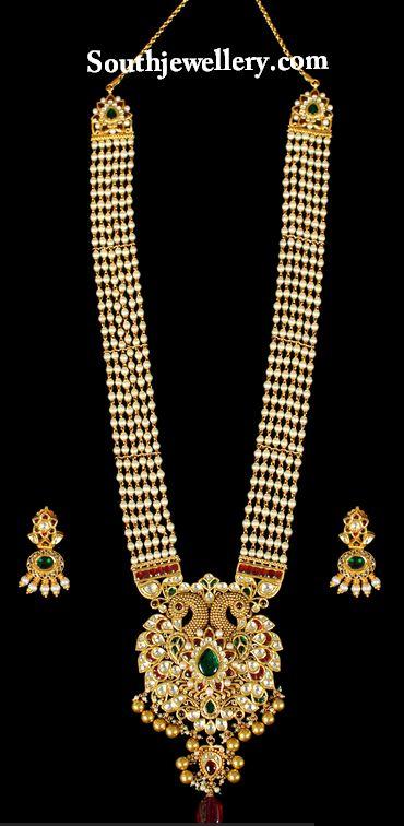 perlas haram con Kundan colgante