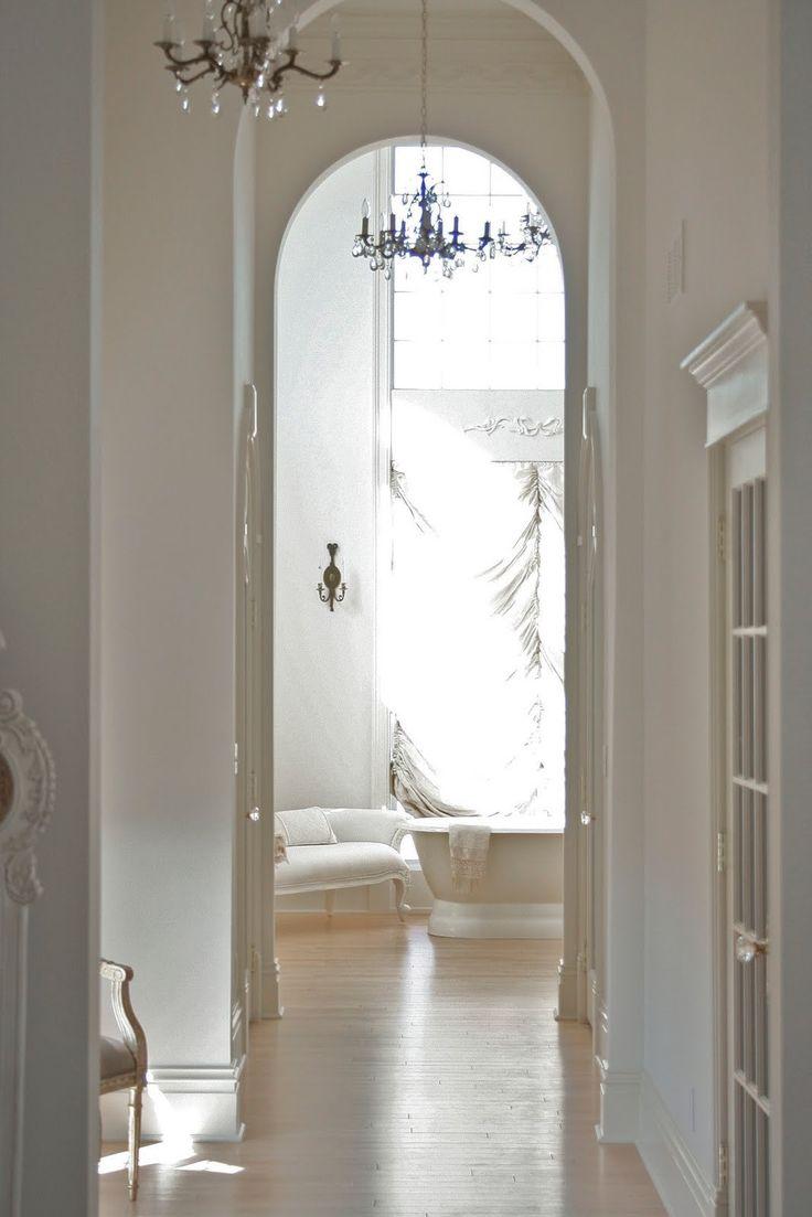 white curves arches. white bath