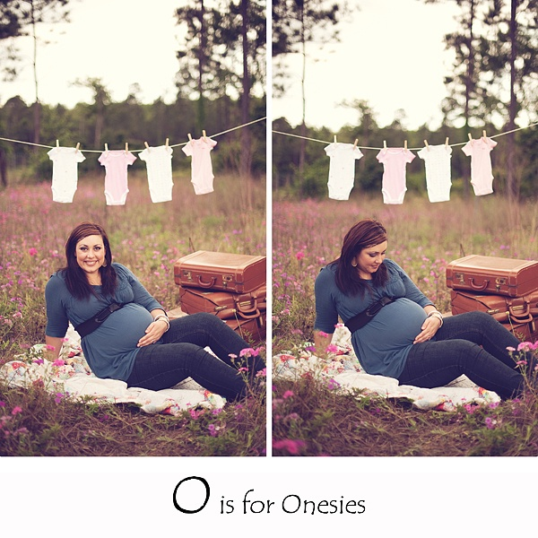 this is the best idea for a pregnancy photo shoot i think i've ever seen.  a picture for every letter of the alphabet.  a good keepsake!