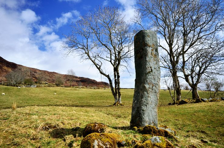 Clach na h'Annait Standing Stone (Menhir) in Isle of Skye, Scotland