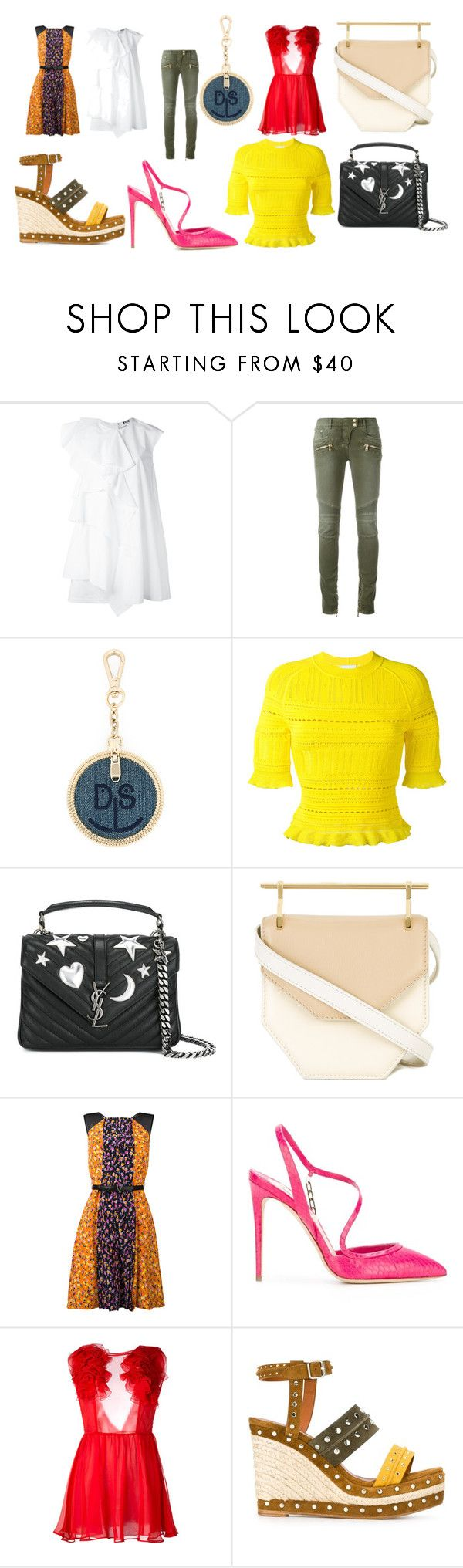 """""""fashion collection sale"""" by monica022 ❤ liked on Polyvore featuring MSGM, Balmain, Diesel, 3.1 Phillip Lim, Yves Saint Laurent, M2Malletier, Versace, Olgana, Daniele Carlotta and Lanvin"""