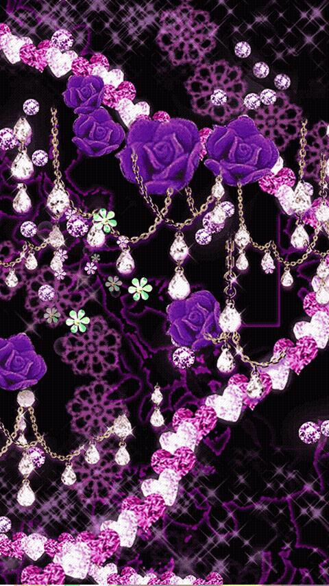 Purple and black with jewels