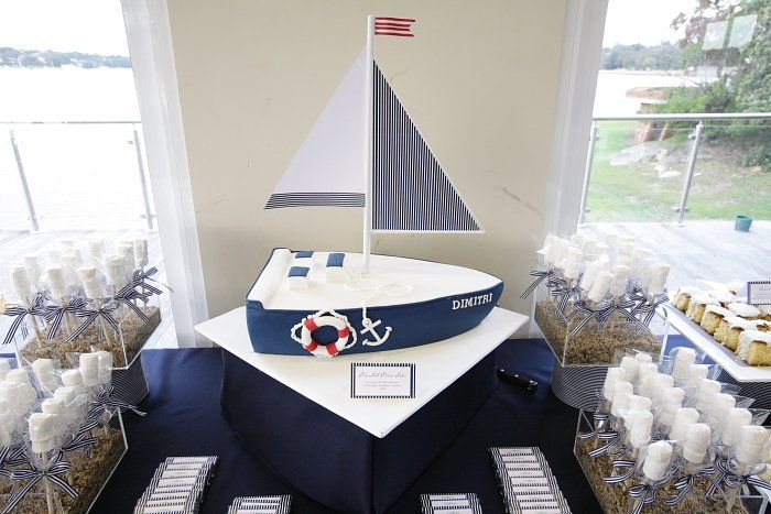nautical decoration for baptisim | Nautical Christening Party Dessert Table - kootation.com
