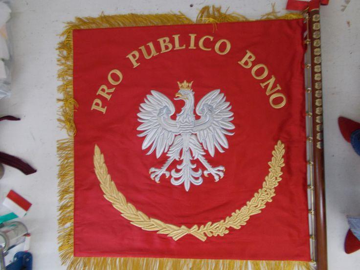 Sztandar gminy Michałowice strona 2.  Haft AHA STUDIO