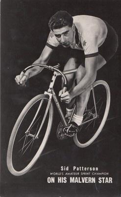 AUSTRALIA MALVERN STAR SID PATTERSON - CYCLING ADVERT CARD