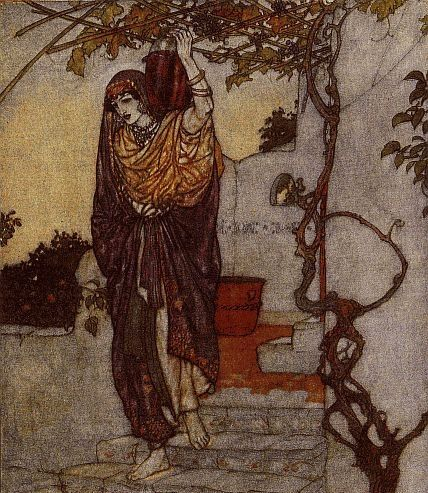 """""""And lately by the Tavern door"""" by Edmund Dulac (1882-1953)"""