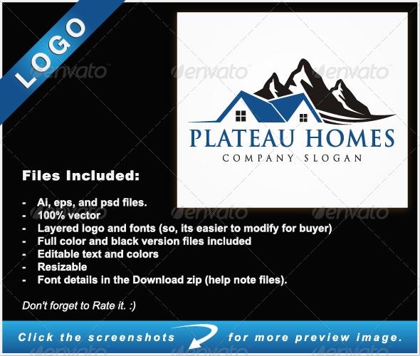 Plateau Homes - Buildings Logo Templates