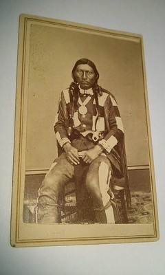 1865 Carte De Visite Of Ute Chief Jack With Pistol Firearm By Denver Colorado Photographer Chamberlain S