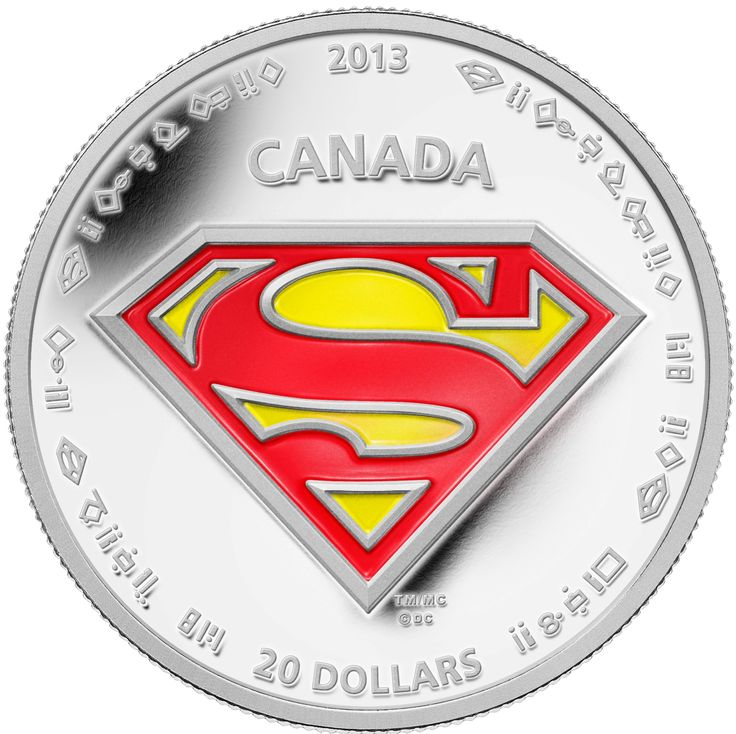 1 oz $20 Fine Silver Coin - Superman™'s S-Shield - Mintage: 10,000 (2013). On September 9, 2013, the Mint unveiled seven new collector coins in celebration of the 75th anniversary of Superman.