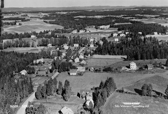 Akershus fylke Sørum kommune Lørenfallet brukt 1951 Utg Widerøe