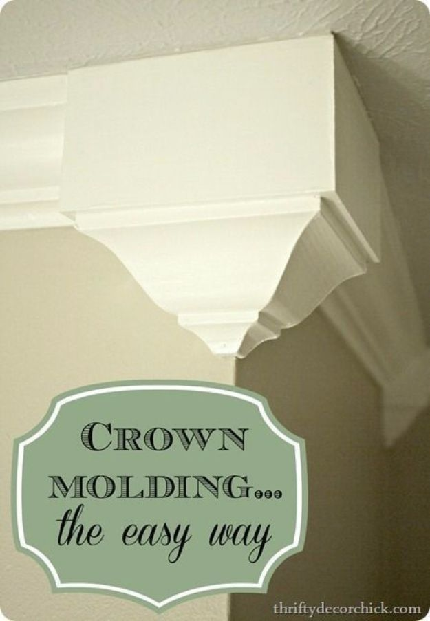 DIY Home Improvement Projects On A Budget - Add Crown Molding - Cool ...