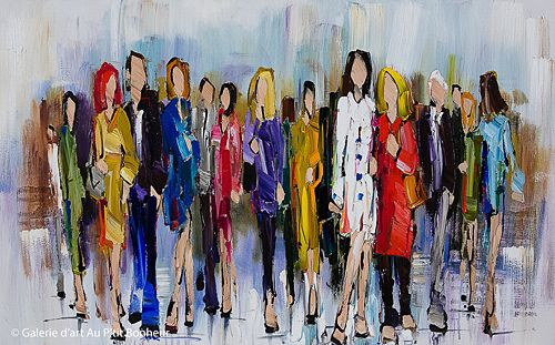 Kimberly Kiel, 'A White Coat Makes the Outfit', 30'' x 48'' | Galerie d'art - Au P'tit Bonheur - Art Gallery