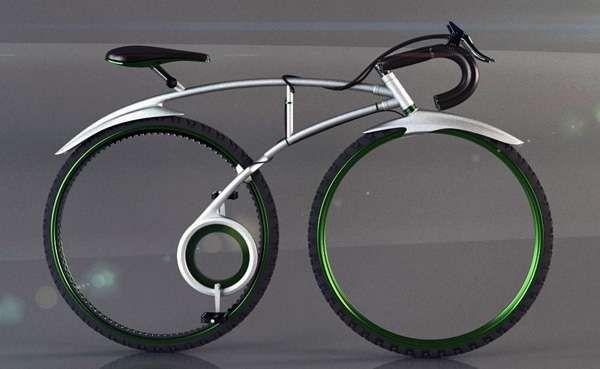 Rueda verde futura bici.