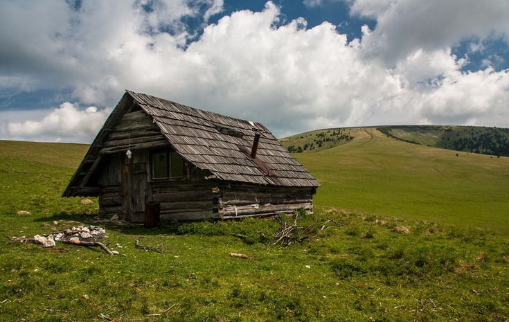 Shelter for hikers in the Great Fatra National park