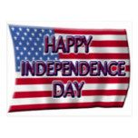 Happy Independence Day with USA Flag, ZSSG Postcard | Zazzle.com