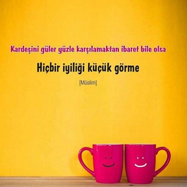 #kardeş #güler #yüz #tebessüm #gülümse #iyilik #küçük #görme #hadis #islam #müslüman #ilmisuffa