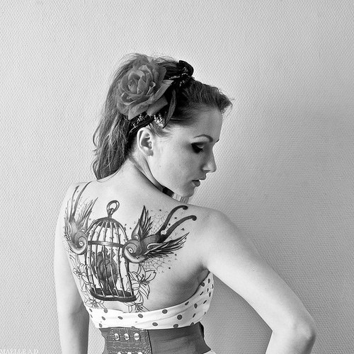 gorgeous birds: Tattoo Placements, Birds Tattoo, 3D Tattoo, Thighs Tattoo, Back Tattoo, Tattoo Life, A Tattoo, Vintage Tattoo, Birds Cages Tattoo