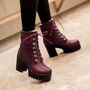 botines+de+plataforma+zapatos+de+punta+redonda+talón+grueso+de+la+mujer+con+cordones+más+colores+disponibles+–+MXN+$+308.55