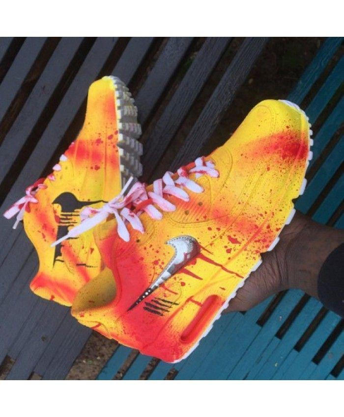 sports shoes 78128 587e6 Nike Air Max 90 Candy Drip Gele Rode schoenen