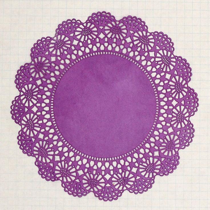 Large Plum Purple Paper Doilies Set of 10-Diy Kit. $5.50, via Etsy.