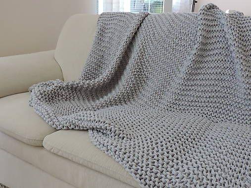 Mega veľká pletená deka, prehoz