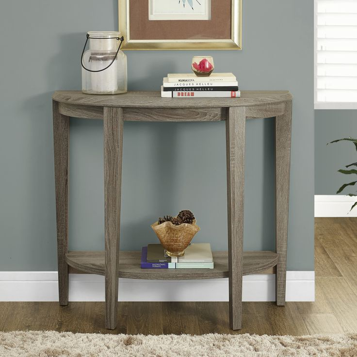 bay shore collection half moon console table with drawer black tables small