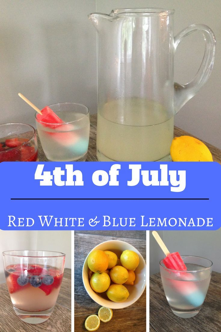 easy and fast red white and blue lemonade
