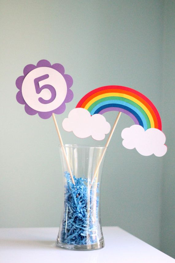 Rainbow Party Centerpiece - 2 pieces