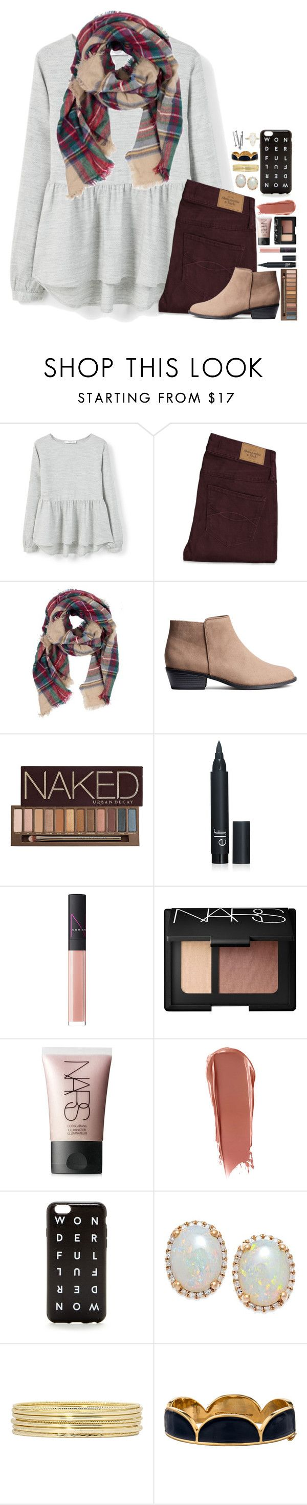 """I never look back darling. It distracts from the now."" by lmr14 ❤ liked on Polyvore featuring MANGO, Abercrombie & Fitch, Urban Decay, NARS Cosmetics, Liz Claiborne, Kate Spade, Kendra Scott, BOBBY, women's clothing and women"