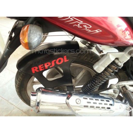 Repsol logo is suitable for application on all Honda bikes and scooters like Honda CB Shine SP, Honda Dream Neo , Honda CD 110 Dream, Honda Activa, Honda Dio , Honda Aviator, Honda Dream Yuga , Honda CB Unicorn 160, Honda CBR 150R, Honda CB Trigger, Honda Hornet 160R, Honda Lead, Honda NXR 160. The medium size repsol logo is suitable for application on all honda bike front forks / suspension / shockers and swingarm. Individually cut stickers on High grade colored vinyl. Suitable for...
