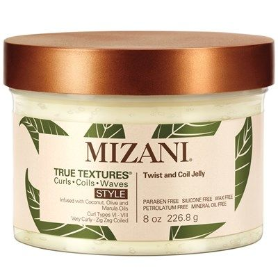 Mizani True Textures® Twist and Coil Jelly is ideal for creating two-strand twists, coils, twist-outs, and braid-outs without crunch. Mizani's Curl Care Complex Technology with coconut, olive, and marula oils helps to smooth, condition and hydrate hair. Rich in antioxidants and essential fatty acids to create healthy, moisturized defined curls and to create softer, shinier, restored hair.