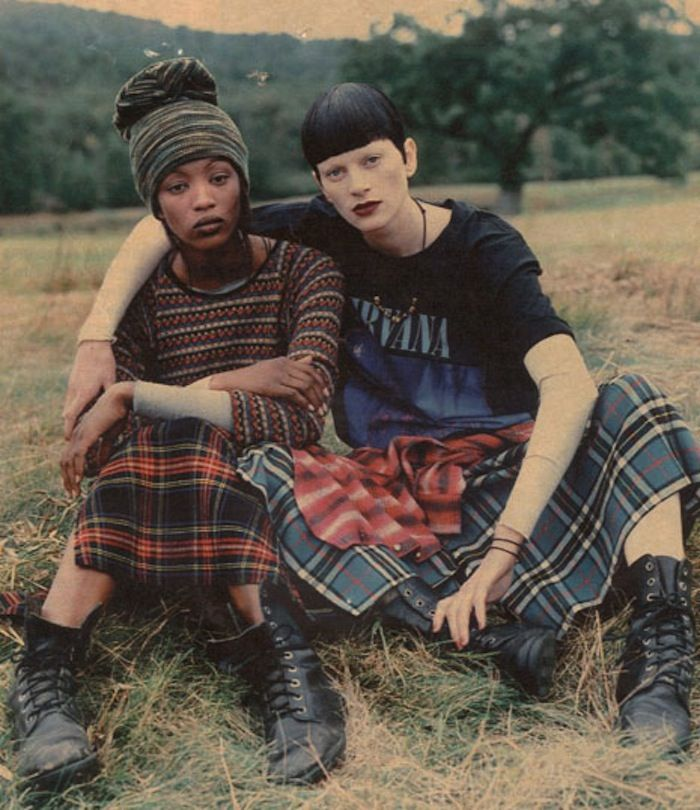 "::: OutsaPop Trashion ::: DIY fashion by Outi Pyy :::""Grunge & Glory""  Vogue US December 1992 by Steven Meisel  Featuring mostly grunge inspired pieces by Marc Jacobs (for Perry Ellis)"