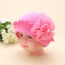 ブランドの新しい美しい花ベビー帽子固体かぎ針編み赤ちゃんビーニー男の子女の子帽子ラブリー赤ちゃんニットキャップ素敵な赤ちゃんアクセサリー(China (Mainland))