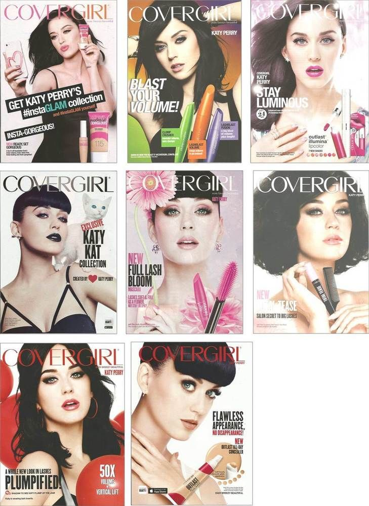 8 PRINT ADs Katy Perry for Covergirl cosmetics ADVERTISING PAGES #Covergirl