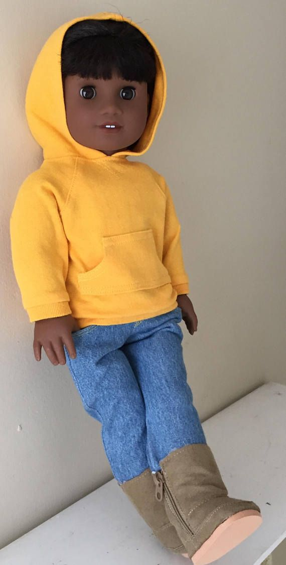 Fits American Girl or Boy doll:  hoodie and jeans