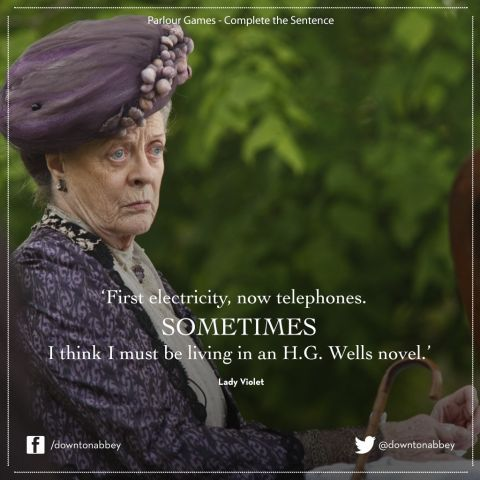 """Dame Maggie Smith as Lady Violet Grantham in """"Downton Abbey"""""""
