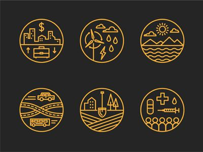 Designspiration — Dribbble - Data Icons by Brad Woodard