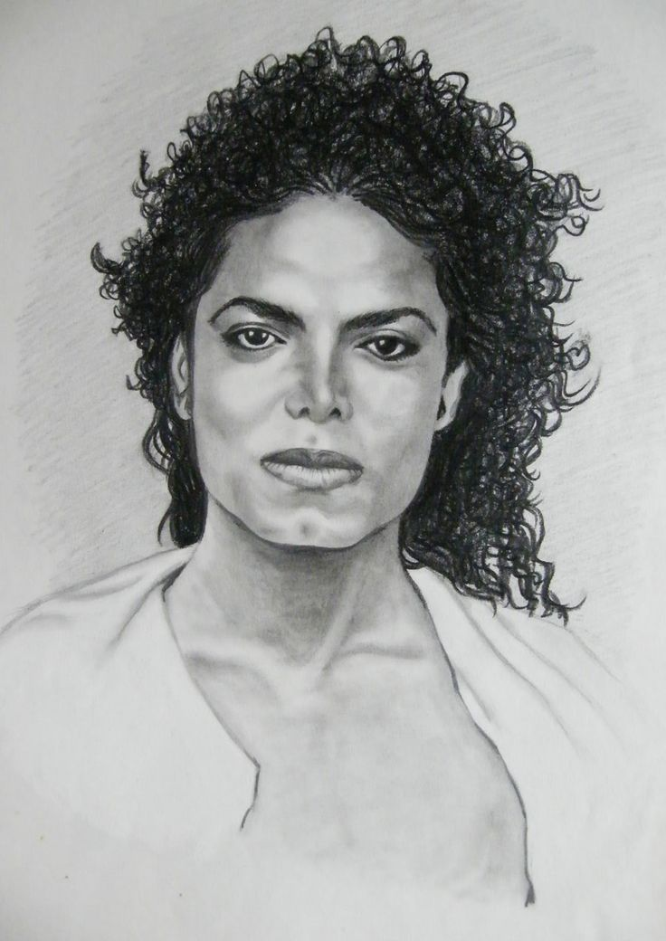 how to draw michael jackson for beginners