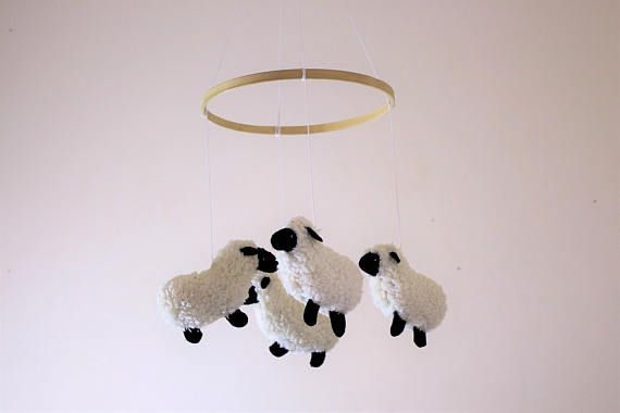 Baby Mobile  Sheep Mobile  Lamb Baby Mobile  Nursery Decor