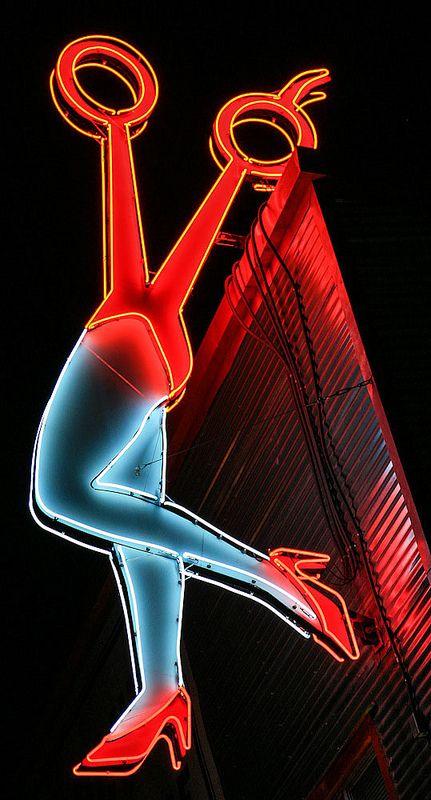 …Austin, Texas.  Neon scissors sign - Alas the Sexy Scissors is no more. :(