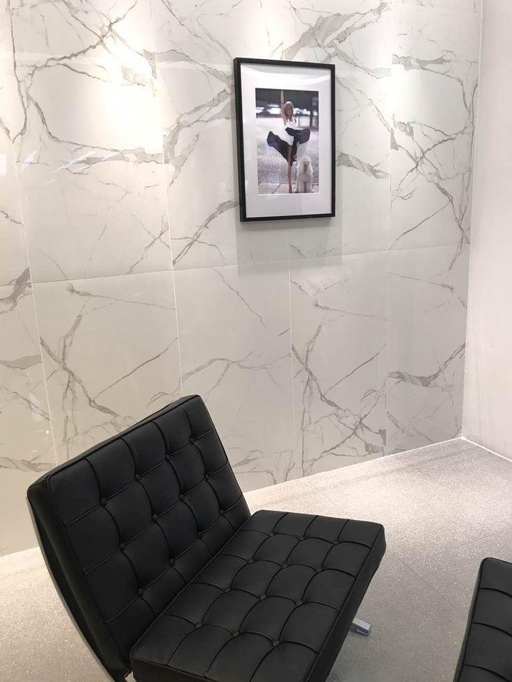 Classic Terrazzo Porcelain Tile with Biano Carrara White Porcelain Tile