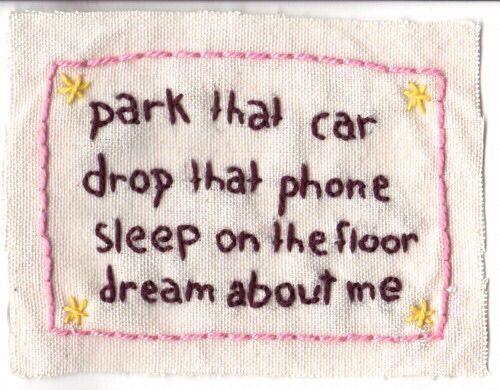 Broken Social Scene embroidery