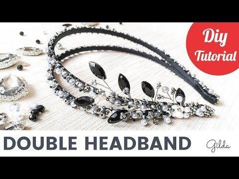 (3) Как Сделать Двойной Ободок для Волос Своими Руками из Бусин и Жемчуга - YouTube