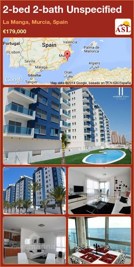 2-bed 2-bath Unspecified in La Manga, Murcia, Spain ►€179,000 #PropertyForSaleInSpain