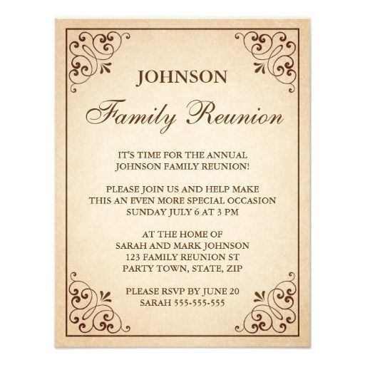 59 best family reunion images on Pinterest Family reunions - class reunion invitation template