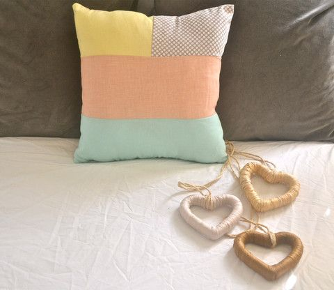 Handcrafted cushion. All cushion come with insert and can Be made to suit your colour choice. www.amiamo.com.au